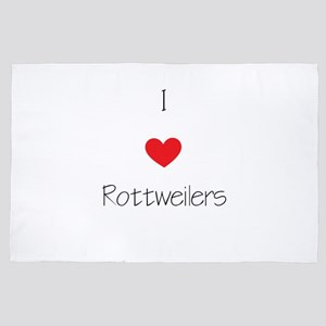 I Love Rottweilers 4' X 6' Rug
