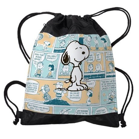 Peanuts Snoopy Comic Strip Drawstring Bag