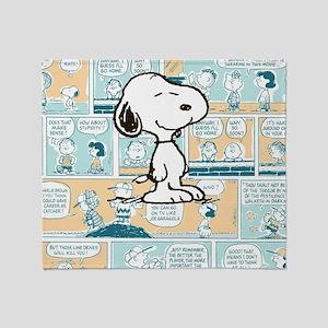 Peanuts Snoopy Comic Strip Throw Blanket