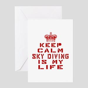 Keep Calm and Skye Diving Greeting Card