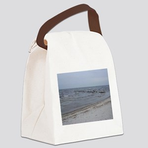 the sea invites you to dream Canvas Lunch Bag