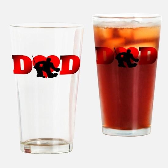 Hockey Dad Drinking Glass