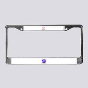 you can't scare me I am a Squa License Plate Frame