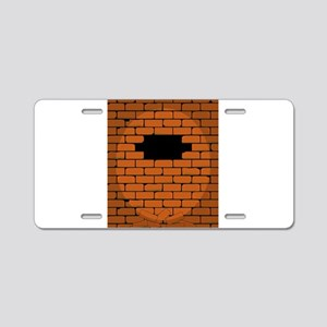 Hole In The Wall Aluminum License Plate