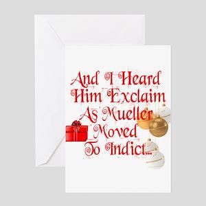 Trump Christmas, Republican, Democr Greeting Cards