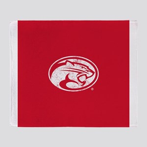 Houston Cougars Distressed Throw Blanket
