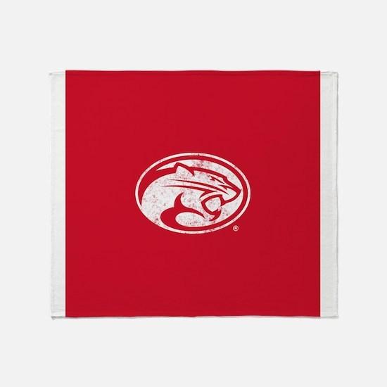 Houston Cougars Distressed Throw Blanket