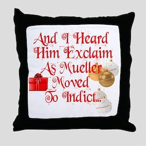 Trump Christmas, Republican, Democrat Throw Pillow