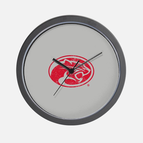 Houston Cougars Distressed Wall Clock