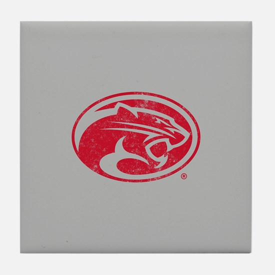 Houston Cougars Distressed Tile Coaster
