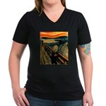 Scream 21st Women's V-Neck Dark T-Shirt