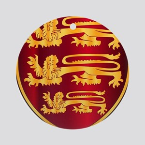 British Three Lions Crest Round Ornament