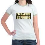 I'd Rather Be Fishing Jr. Ringer T-Shirt
