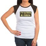 I'd Rather Be Fishing Junior's Cap Sleeve T-Shirt