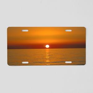 Beach Sunset Aluminum License Plate