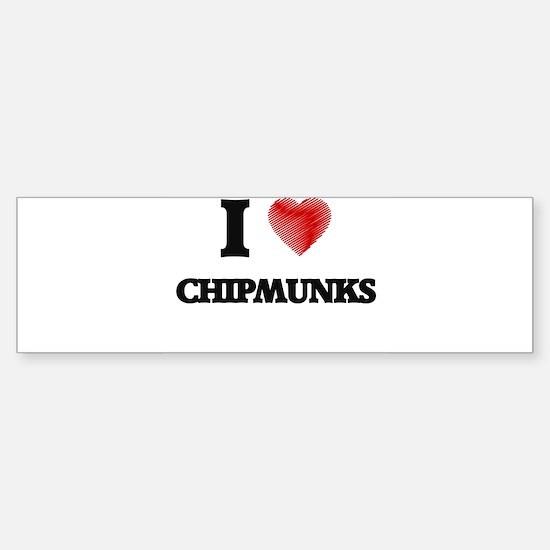 chipmunk Bumper Bumper Bumper Sticker