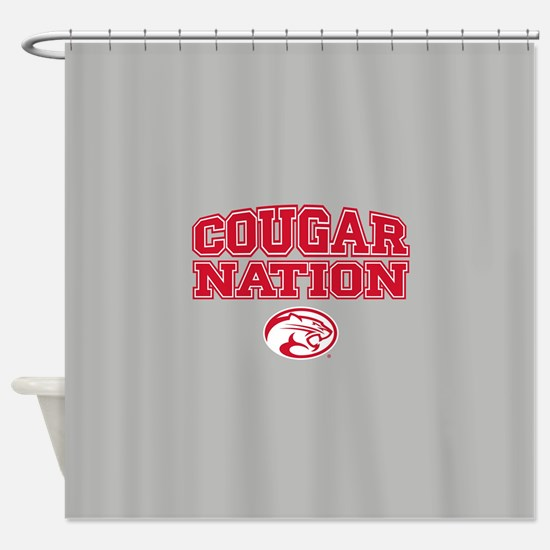 Houston Cougars Cougar Nation Shower Curtain