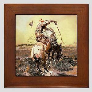 Wild West Vintage -Page1 Framed Tile