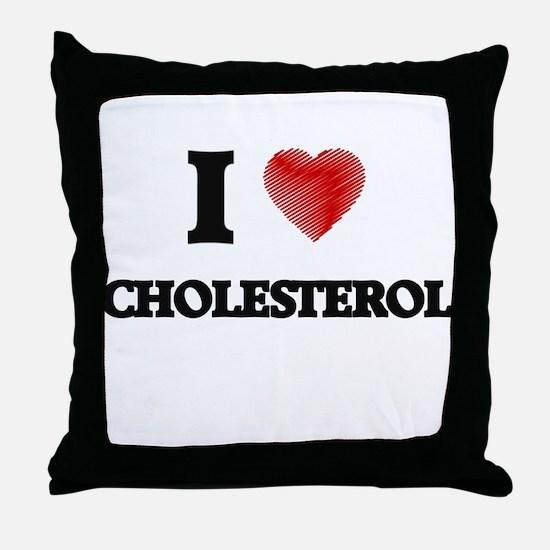 cholesterol Throw Pillow
