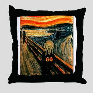Scream 60th Throw Pillow