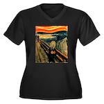 Scream 60th Women's Plus Size V-Neck Dark T-Shirt