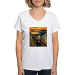 Scream 60th Women's V-Neck T-Shirt