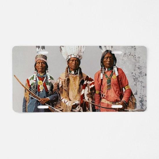 Native American apache worr Aluminum License Plate