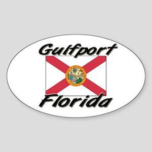 Gulfport Florida Oval Sticker