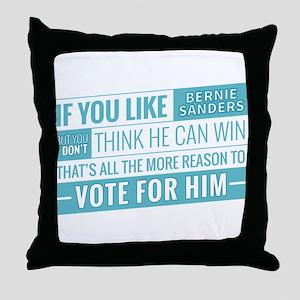 Bernie Can Win Throw Pillow