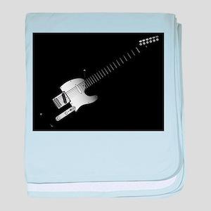 Black Guitar Background baby blanket