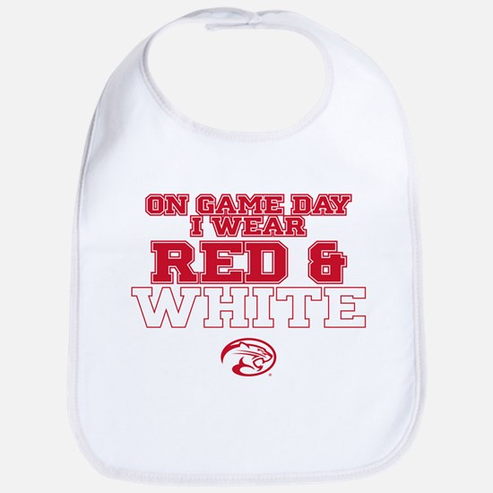 Houston Cougars Red & White Game Day Baby Bib