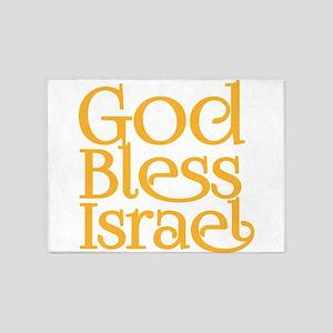 God Bless Israel 5'x7'Area Rug