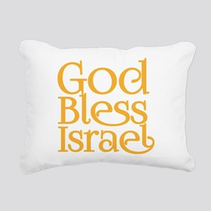 God Bless Israel Rectangular Canvas Pillow