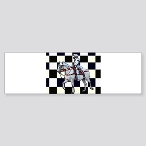 Knight on horseback with Chess boar Bumper Sticker