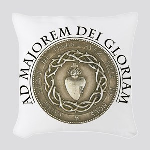 FOR THE GREATER GLORY OF GOD Woven Throw Pillow