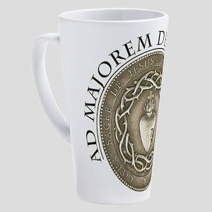 FOR THE GREATER GLORY OF GOD 17 oz Latte Mug
