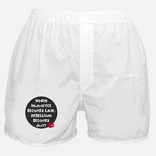 When Injustice Becomes Law... Boxer Shorts
