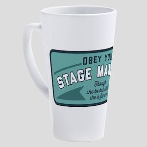 Obey Your Stage Manager 17 oz Latte Mug