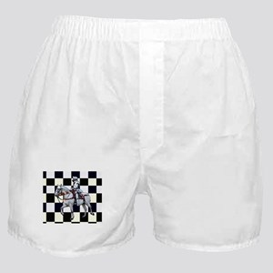 Knight on horseback with Chess board Boxer Shorts