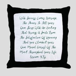 Leverage Throw Pillow