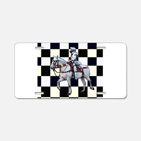 Knight on horseback with Ch Aluminum License Plate