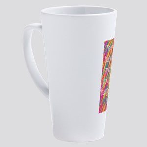 fine line: make-up sarcasm 17 oz Latte Mug