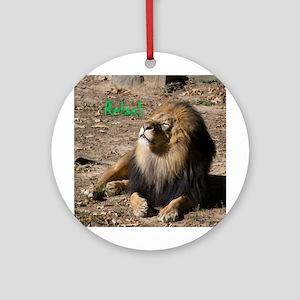 Resting lion Round Ornament