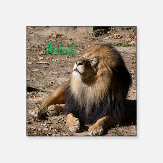 Resting lion Sticker