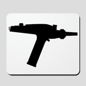 Ray Gun Silhouette Mousepad