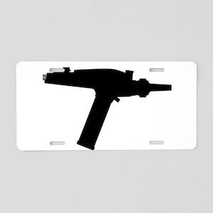 Ray Gun Silhouette Aluminum License Plate