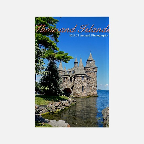 Thousand Islands Castle Rectangle Magnet Magnets
