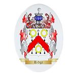Ridge Oval Ornament