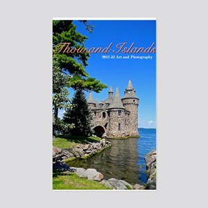 Thousand Island Castle Sticker (rectangle)