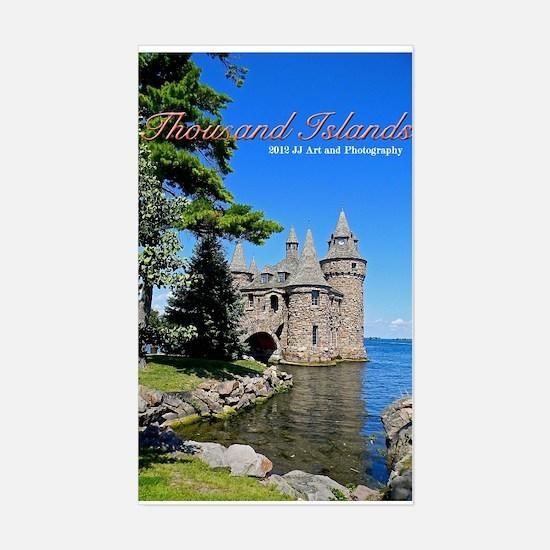 Thousand Island Castle Sticker (rectangle)
